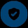 Network design icon blue