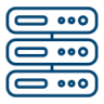 Server network mgmt icon blue