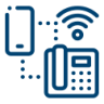 Telephone VOIP icon blue